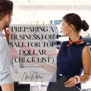 Preparing a Business for Sale for Top Dollar